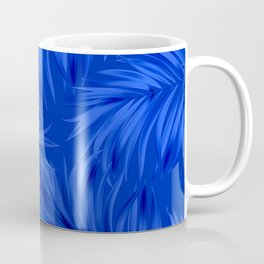 Palm Tree Fronds Brilliant Blue on Blue Hawaii Tropical Décor Coffee Mug