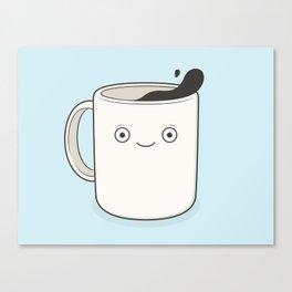 whoa, coffee! Canvas Print