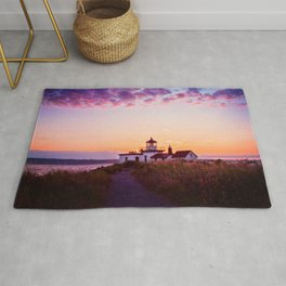 Discovery Park Lighthouse at sunset Rug
