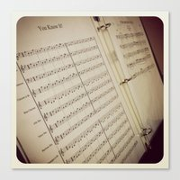 music notes Canvas Prints featuring Music Notes by BestSimpleJourney