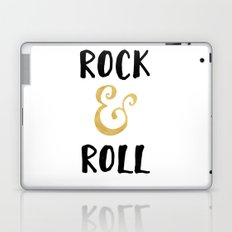 Rock and Roll Gold Quote Laptop & iPad Skin