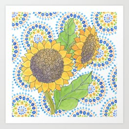 Sunflower-Wallflower by Sandy Thomson Art Print