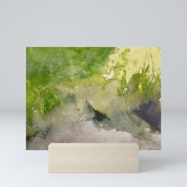 Grass Grows on the Edge of the River Mini Art Print