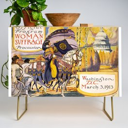 Women's March On Washington, Votes For Women, Women's Suffrage Credenza