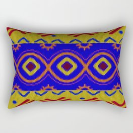 Ethnic African Knitted style design Rectangular Pillow