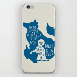 Strength of the Pack - Wolf and Child iPhone Skin