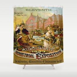 Vintage poster - Cincinnati Shower Curtain