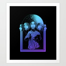 full moon goddess Art Print