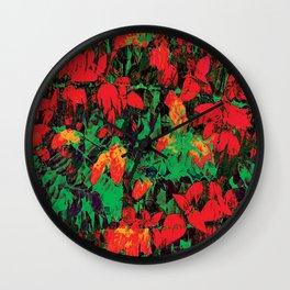 Flora Celeste Ruby Floral  Wall Clock