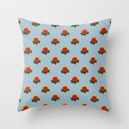 Red Banksia Throw Pillow