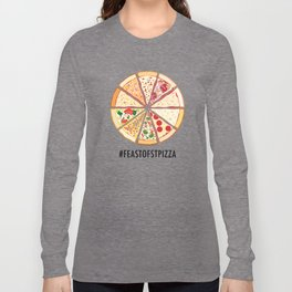 Feast of St. Pizza: Lebanon Edition Long Sleeve T-shirt