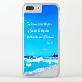 Psalm 19 Clear iPhone Case