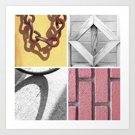 Graphic Quadrant 4 Art Print