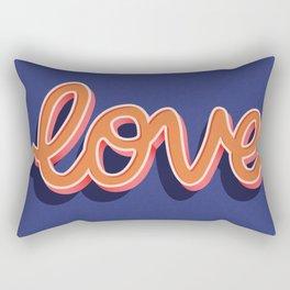 Love, Hand Lettered, Happy Valentine's Day Rectangular Pillow