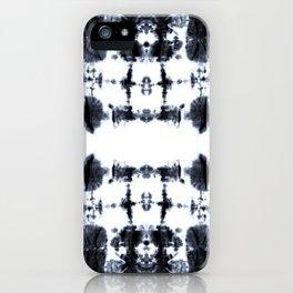 Boho BW Stitch Shibori iPhone Case