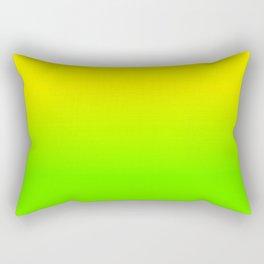 Neon Yellow and Neon Yello Green Ombré  Shade Color Fade Rectangular Pillow