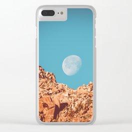 Moon over Anza Borrego Clear iPhone Case