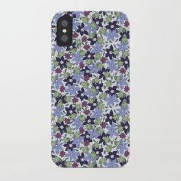 Violets Are Blue floral print iPhone Case