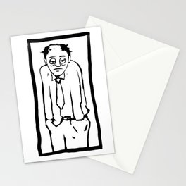 Bored worker rutine job life comic Stationery Cards