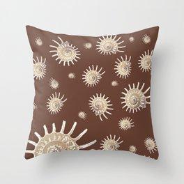 Solaris on chocolate Throw Pillow