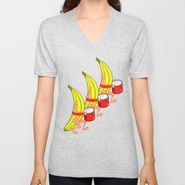 Banana Marching Band Unisex V-Neck