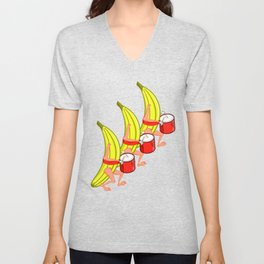 Banana Marching Band Unisex V-Neck