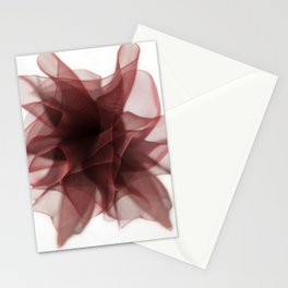 Red bow flower Stationery Cards