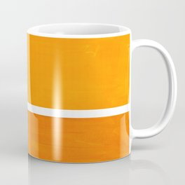 Antique Yellow  & Yellow Ochre Mid Century Modern Abstract Minimalist Rothko Color Field Squares Coffee Mug