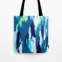 ikat Tote Bags featuring Ikat by kristinesarleyart
