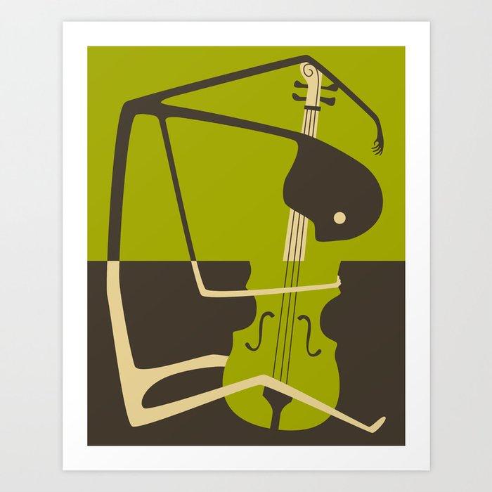Blues' Cello Art Print
