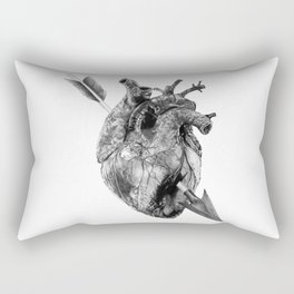 Wounded Heart Rectangular Pillow
