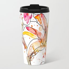 Day Lilies - Watercolor and ink Travel Mug
