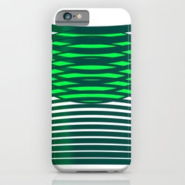 Geometric pattern green modern  iPhone Case