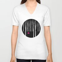 woods V-neck T-shirts featuring Woods by S.Y.Hong