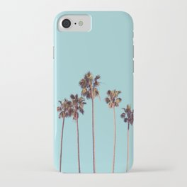 palm trees turquoise iPhone Case