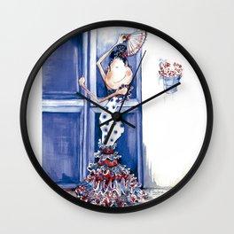 Flamenca Blue Wall Clock