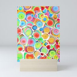 Sunshine on Your Spotty Mind (Alcohol Inks Series 07) Mini Art Print