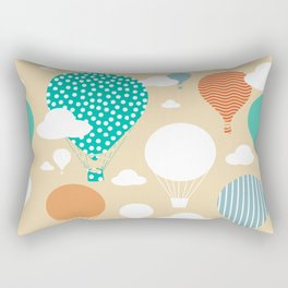 Hot air balloon neutral Rectangular Pillow