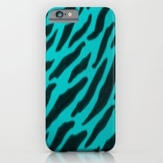 Aqua Zebra Print Slim Case iPhone 6s