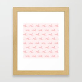 Pink Italian Greyhound Pattern Framed Art Print