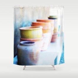 Flowerpots Shower Curtain