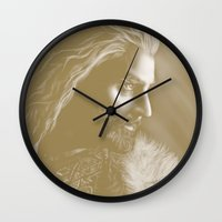 thorin Wall Clocks featuring Thorin by Christine Tromop