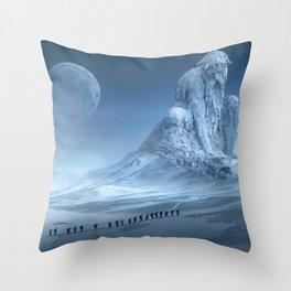 Travel On Fantasy Planet Throw Pillow