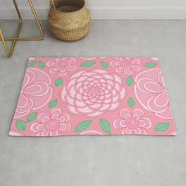 Love is a Rose Rug