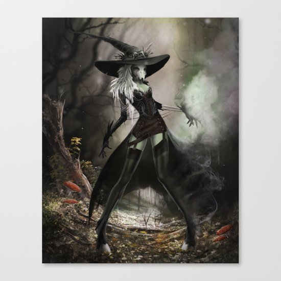 Witch Of Pendle Canvas Print