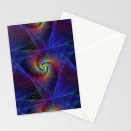 Fractal magic lights Stationery Cards