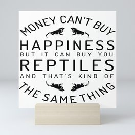 Happy luck reptile snake gift pet Mini Art Print