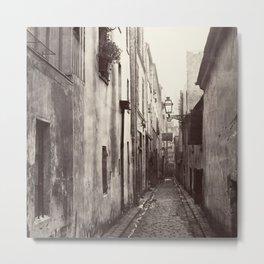 Vintage Paris Street Metal Print