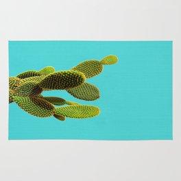 cactus on blue Rug