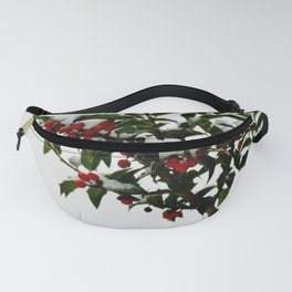 Snow-Kissed Holly Fanny Pack